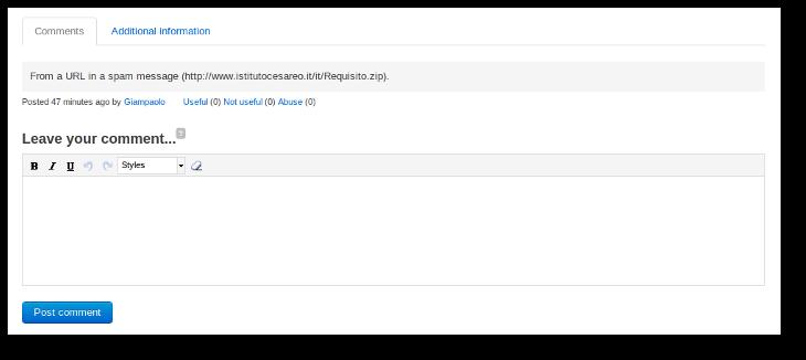 VirusTotal Community Make Comment