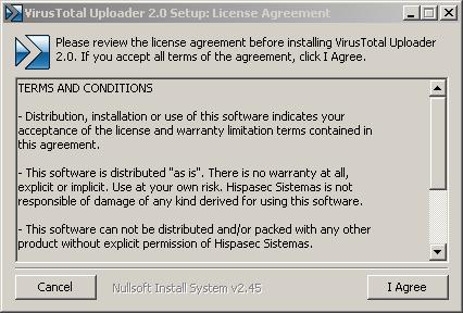VirusTotal Windows Uploader - VirusTotal